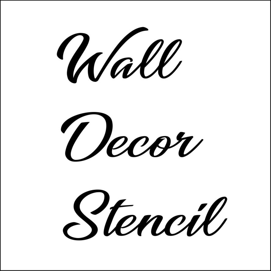 wall decor stencil